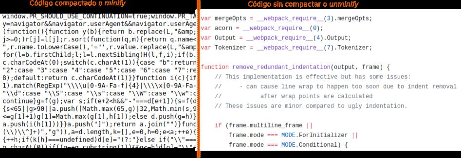 comparacion-codigo-javascript-minify-vs-unminify – Diego